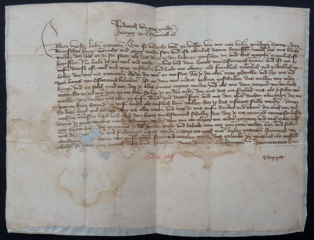 Das Frauenfelder Original-Schriftstück ist historisch bedeutsamer, als bisher angenommen.