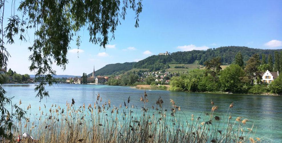 Der Rhein bei Eschenz als Grenze durch die Jahrtausende.