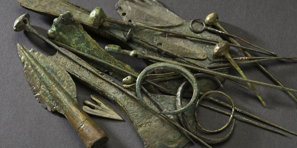 Bronzezeitliche Funde aus der UNESCO-Welterbestätte Arbon-Bleiche 2 (ca. 1600 v.Chr.).