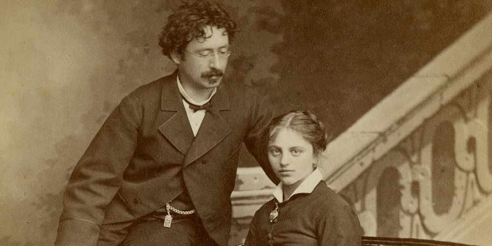 Julius Maggi (1846–1912) mit seiner zweiten Ehefrau Louise (1859–1919) Bildnachweis: Archives Historiques Nestlé, Vevey