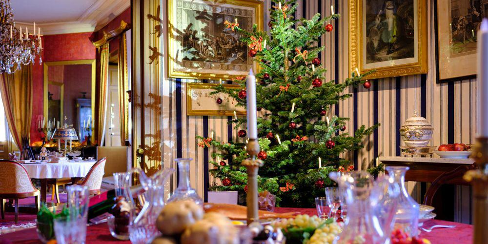 Weihnachtliche Atmosphäre im Schloss Arenenberg.