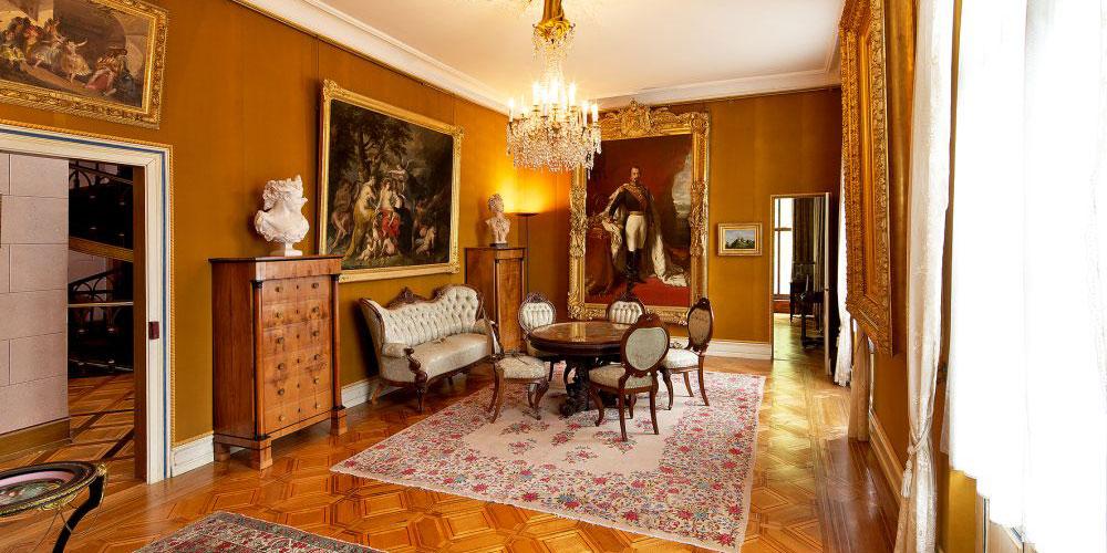 Blick in den Salon der Kaiserin im Schloss Arenenberg.
