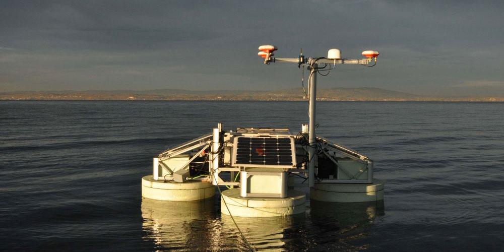 Vermessung der rätselhaften «Steinhügeli» im Bodensee mit dem Hydrocrawler des Fraunhofer-Instituts.
