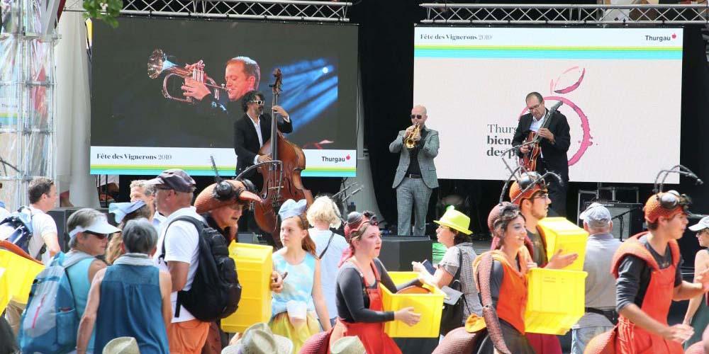 Auf einer der Bühnen spielte Dani Felber mit seinem Jazz-Trio.